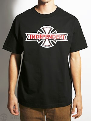 Independent Ribbon B/C Tee Black SM
