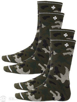 Independent Solo Cross 2 Pk. Crew Socks Camo