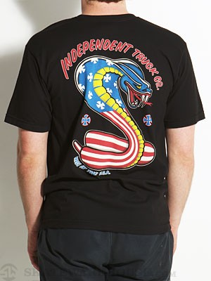 Independent USA Cobra Tee Black SM