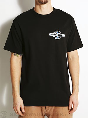 Independent Vintage B/C Chest Tee Black SM