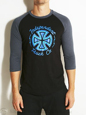 Independent Voltage 3/4 Shirt Black/Blue MD