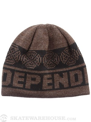 Independent Woven Crosses Beanie Blk/Hthr Brown