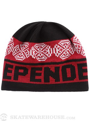 Independent Woven Crosses Beanie Red/Blk/White