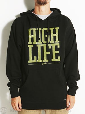 JSLV High Life Pullover Hoodie Black/Green MD