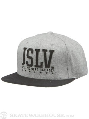 JSLV Athletics Snapback Hat Grey Adjust