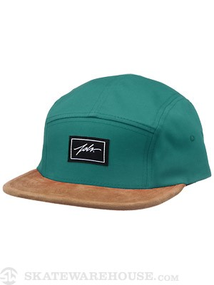 JSLV Contrast 5 Panel Hat Green Adjust
