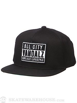 JSLV Explicit Snapback Hat Black Adj.