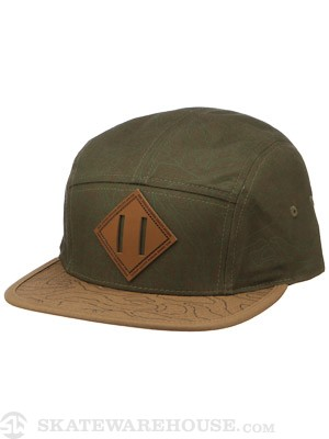JSLV Explorer 5 Panel Hat Olive Adjust