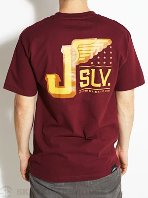 JSLV Fleet Tee Burgundy MD