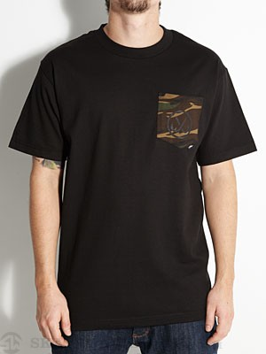 JSLV Hooks Camo Pocket Tee Black LG