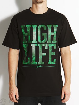 JSLV High Life Tee Black/Green SM