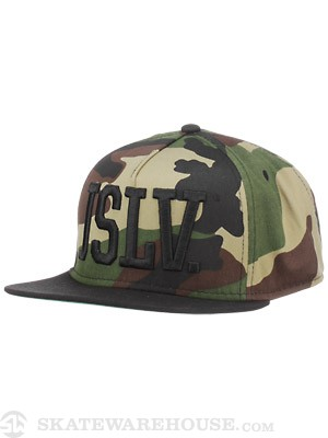 JSLV Issue Standard Snapback Hat Camo/Black Ad