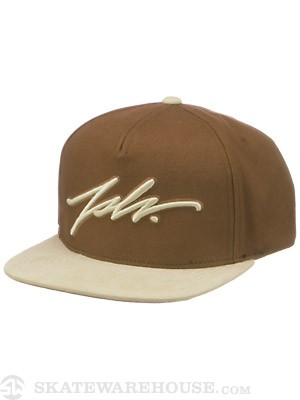JSLV Signature Canvas Snap Cap Hat Brown Adj.