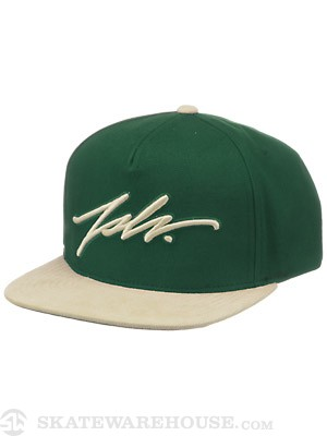 JSLV Signature Canvas Snap Cap Hat Green Adjust