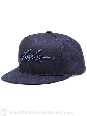 JSLV Signature Snap Cap Hat Dark Navy Adj.