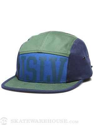 JSLV Tracker 5 Panel Hat Navy Adjust