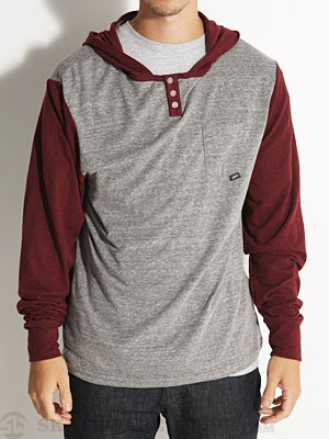 JSLV Tre Hooded Henley Burgundy XXL