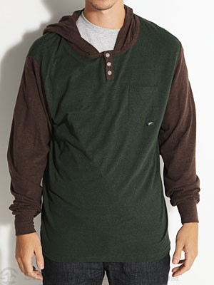 JSLV Tre Hooded Henley Green SM
