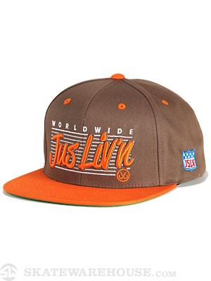 JSLV Worldwide Liv'n Snapback Hat Brown Adj.