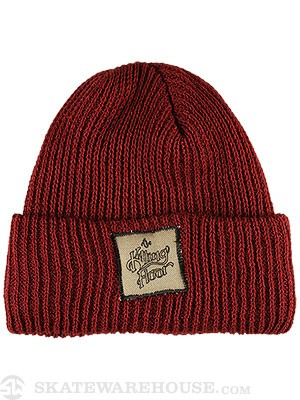 The Killing Floor TKF Logo Fold Beanie Burgundy