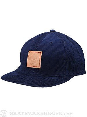 The Killing Floor Leather Logo Cord. Hat Navy