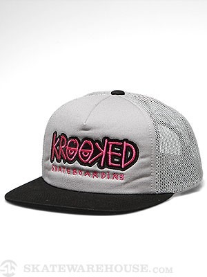 Krooked Bones Trucker Hat Grey/GRY/BLK Adj.