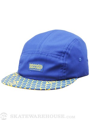 Krooked Diamond 5 Panel Hat Blue Adjust