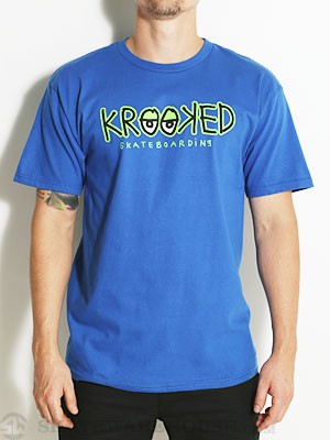 Krooked Eyes Logo Tee Royal MD