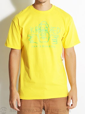 Krooked Krooked Guy Tee Yellow XL