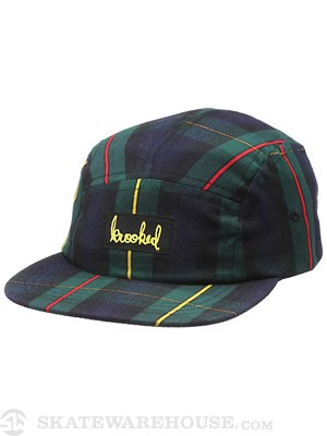 Krooked Signature 5 Panel Hat Plaid Adj.
