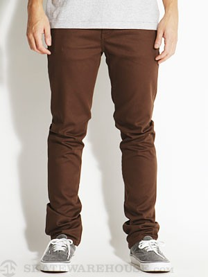 KR3W K Slim 5 Pocket Twill Pants Soil 28