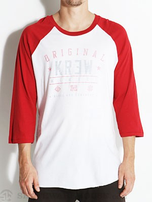KR3W First String Raglan White/Red SM