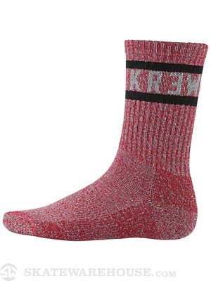KR3W Heathered Socks Red