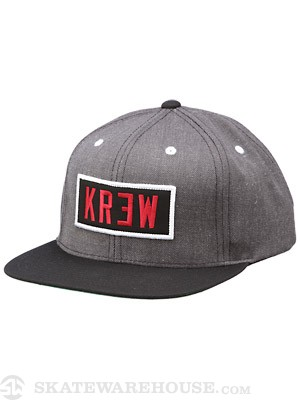 KR3W Locker Snap Back Hat Charcoal