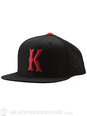 KR3W Occult Snap Back Hat Black