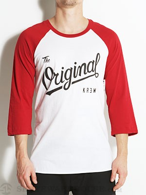 KR3W Original Raglan Shirt White/Red XL