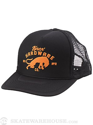 Knox Hardware El Gato Trucker Hat Black Adj.