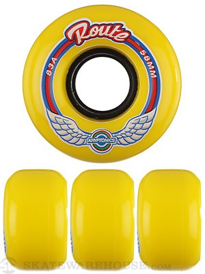 Kryptonics Route Yellow 83A Wheels 58mm