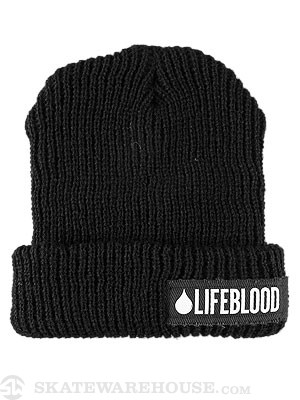 Lifeblood Logo Beanie Black