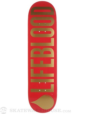 Lifeblood Logo Red/Gold Deck  8.25 x 32