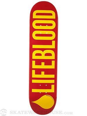 Lifeblood Logo Red/Gold Deck  8.0 x 31.5