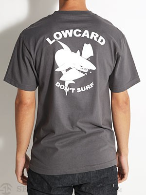 Lowcard Don't Surf Pocket Tee Charcoal MD