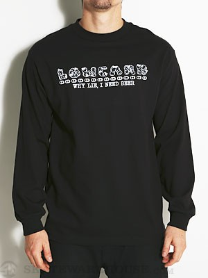 Lowcard Poor Man's Sweatshirt L/S Tee Black SM