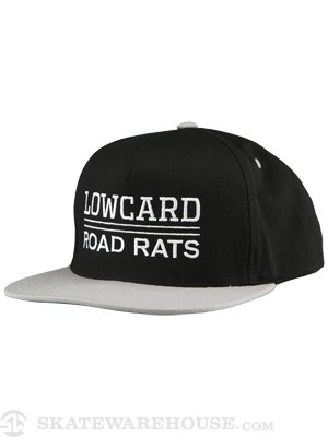 Lowcard Road Rats Snapback Hat Black/Grey