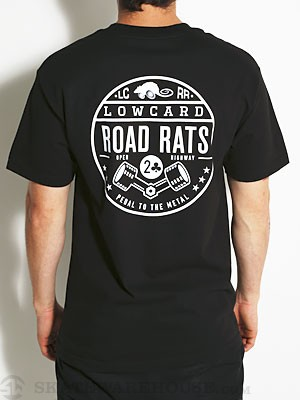 Lowcard Road Rats Pocket Tee Black SM