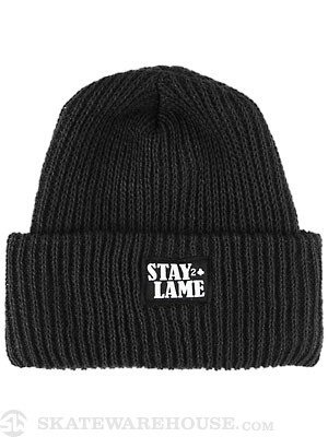 Lowcard Stay Lame Beanie Black One Size