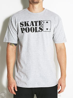 Lowcard Skate Pools Peacock Benefit Tee Grey SM