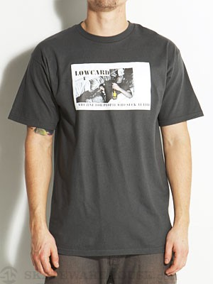 Lowcard Screwboo Reissue Tee Charcoal SM