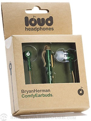 Loud Headphones Bryan Herman Earbuds  Green/Gold