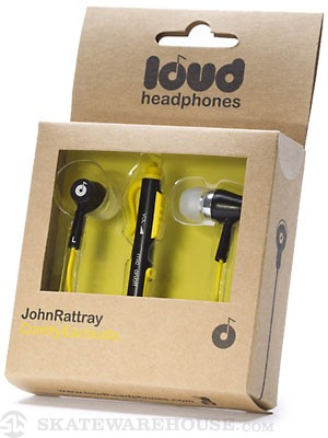 Loud Headphones John Rattray Earbuds  Black/Yellow